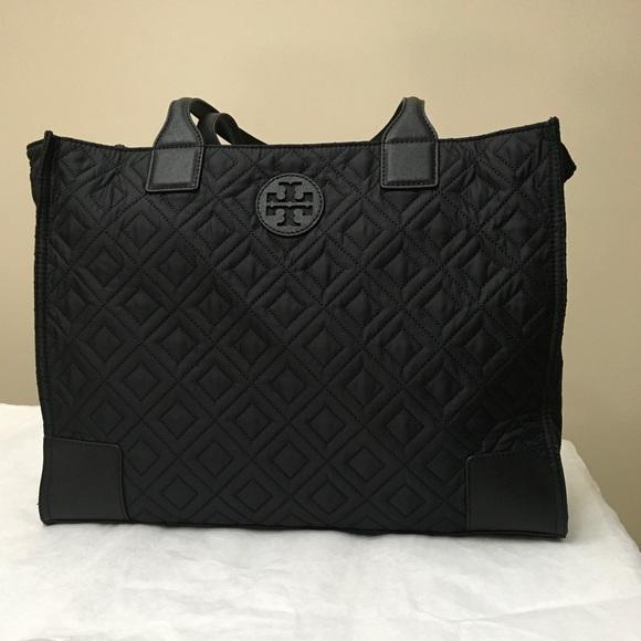 c9c1a263063b 🆕Tory Burch Ella Quilted Nylon Tote Bag